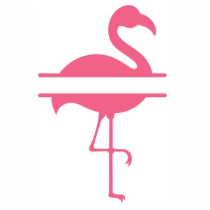 Monogram Flamingo vector
