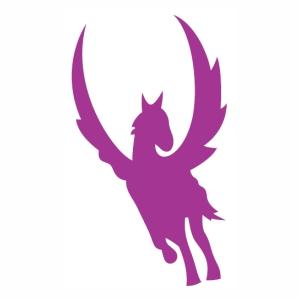 Unicorn horse flying svg