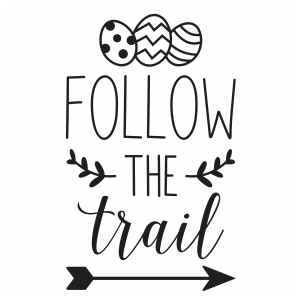 Follow the trail vector file
