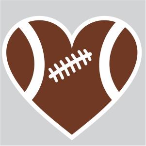 Football Heart Vector