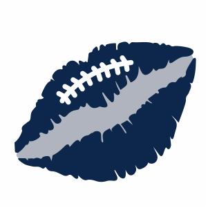 Football lips vector