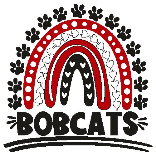 Bobcats Rainbow Football Svg