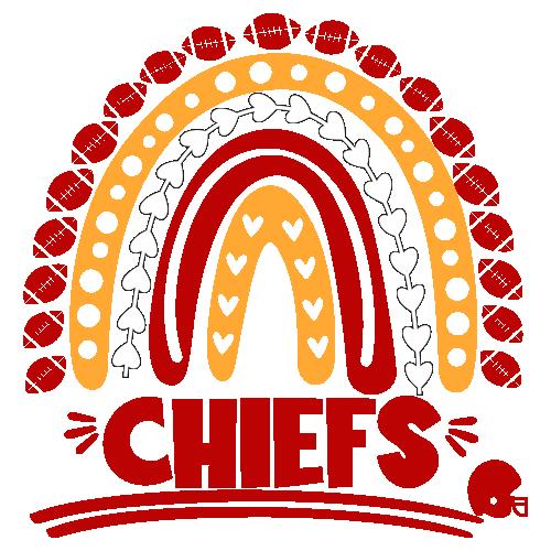 Football Chiefs Rainbow Helmet Svg