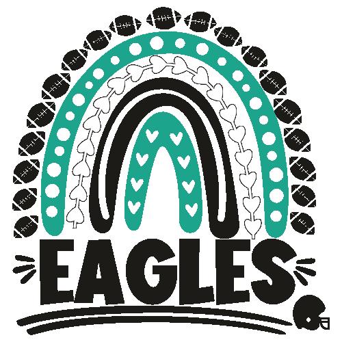Eagles Helmet Rainbow Svg