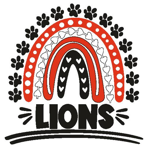 Lions Football Rainbow Svg