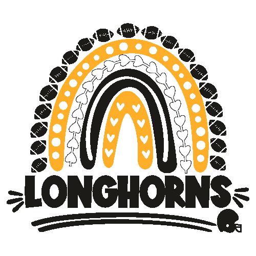 Football Longhorns Rainbow Helmet Svg