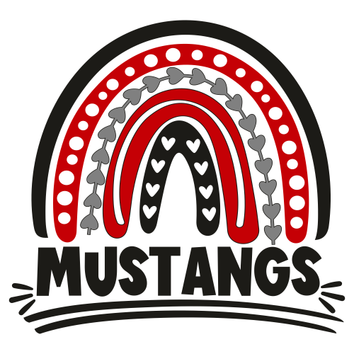 Football Mustangs Rainbow Svg
