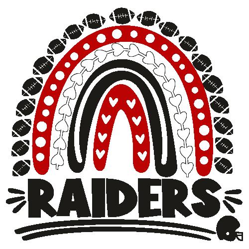 Football Raiders Rainbow Helmet Svg