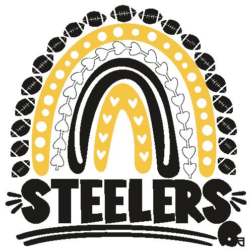 Football Steelers Rainbow Helmet Svg