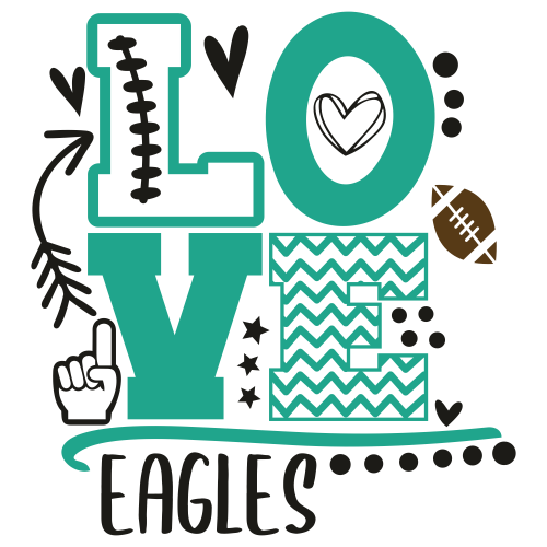 Eagles Foam Finger Mom Love Svg
