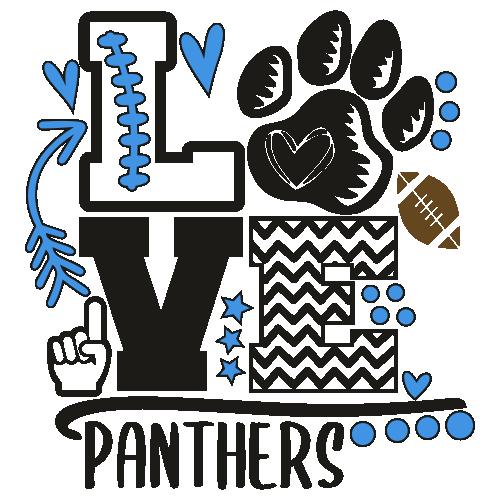 Panthers Foam Finger Mom Love Svg