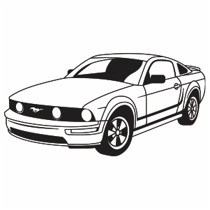Ford Mustang Svg Logo