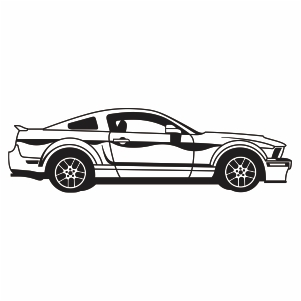 Ford Mustang Car Logo Svg