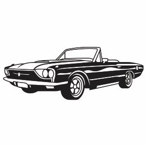 Ford Thunderbird Car Logo Vector