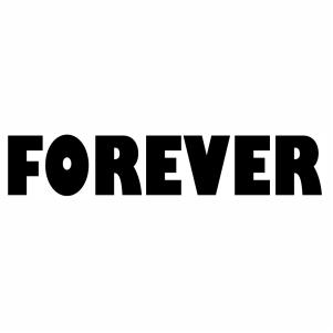 forever letter sign vector file