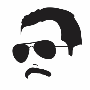 Freddie Mercury Face Vector