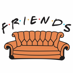 Friends Show Couch Svg