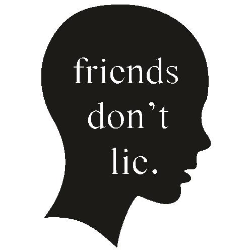Friends Dont Lie Head Svg