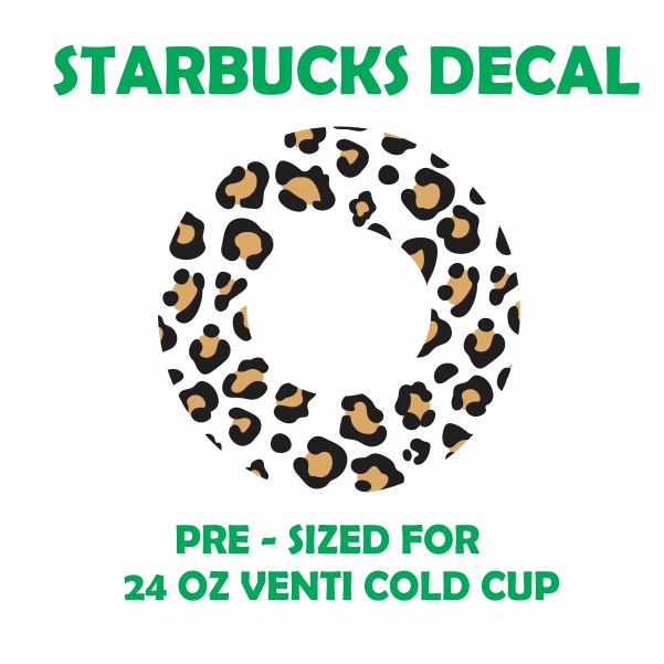 Animal Print Starbucks Svg