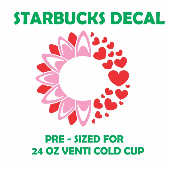 Starbucks Sunflower And Heart Svg