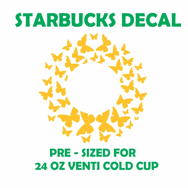 Butterfly Starbucks Svg