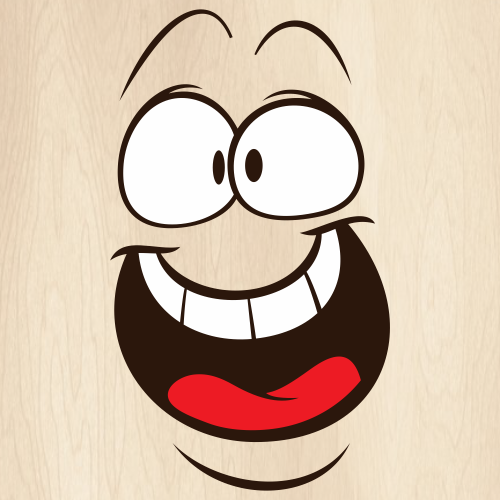 Open Mouth Full Teeth Expressions Svg