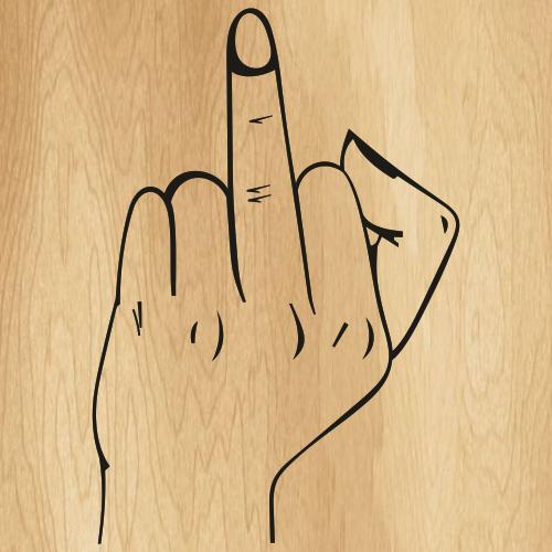 Funny Middle Finger Svg