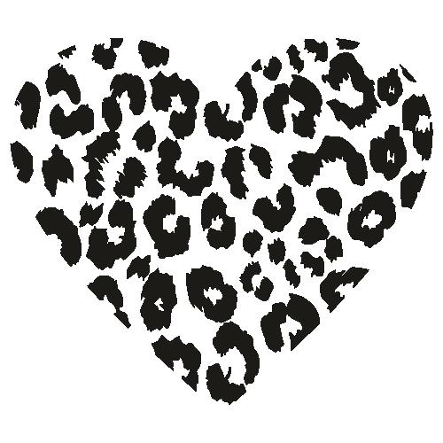 Leopard Heart Print Png