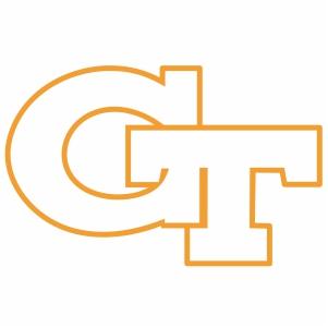 Georgia Tech Yellow GT outline vector file