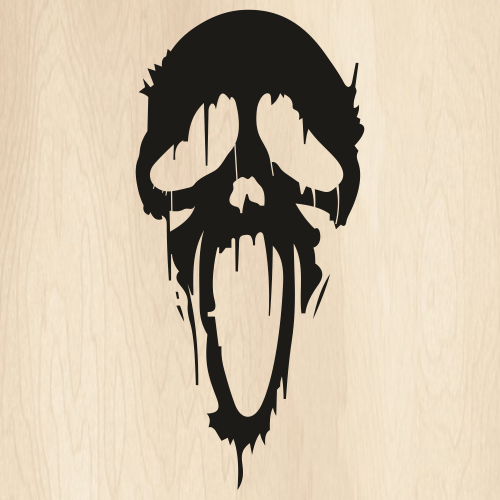 Ghost Face Drip Svg