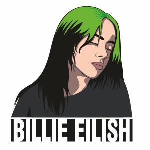 Billie Eilish Singer Svg