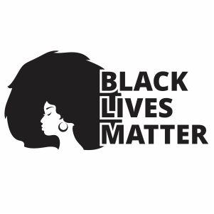 Afro Woman Black Lives Matter Vector