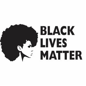 Black Lives Matter Afro Woman Vector