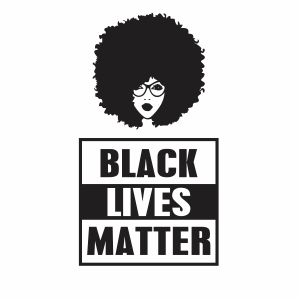 Afro Woman BLM Vector