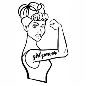 Girl Power strong svg cut file