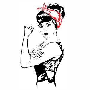 Rosie The Riveter With Bandana svg file