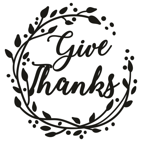 Give Thanks Svg For Silhouette