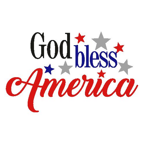 God Bless America Svg
