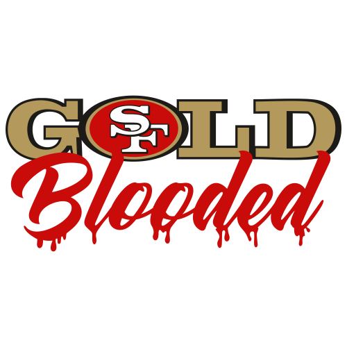 San Francisco 49ers Gold Blooded Svg