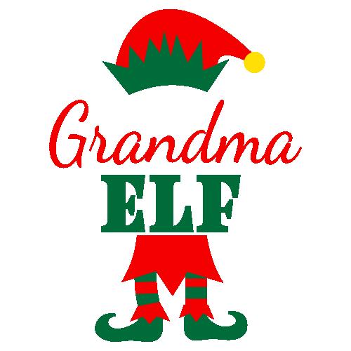 Grandma Elf Svg