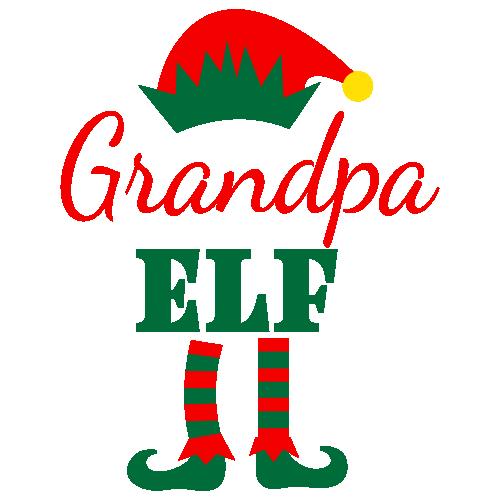 Grandpa Elf Svg