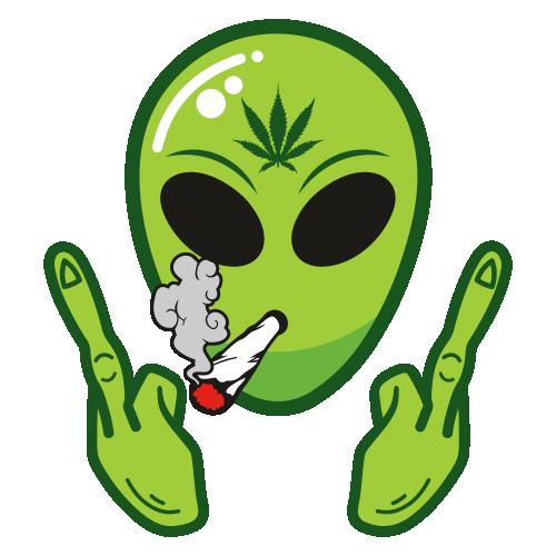 Alien Middle Finger Svg
