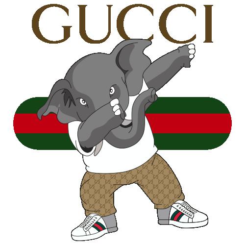 Gucci Elephant Vector