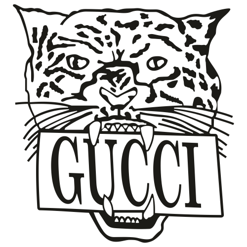Gucci Panther Black Head Svg