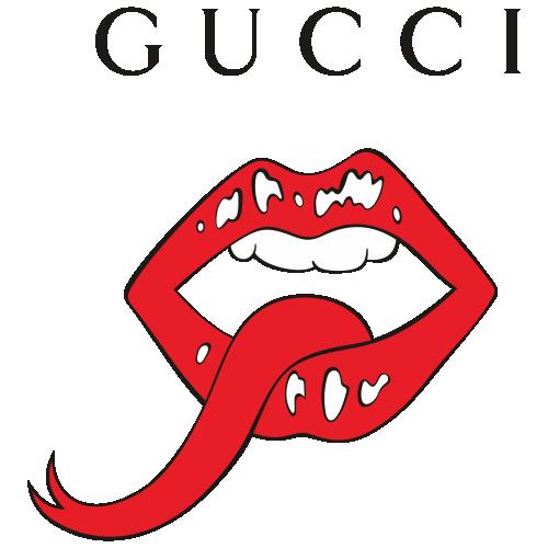 Gucci Mouth Logo Svg