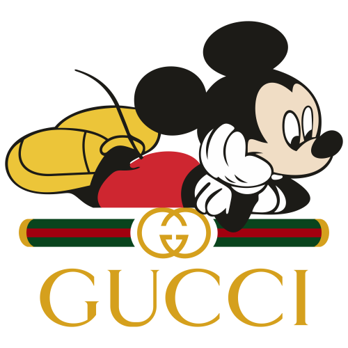 Gucci Mickey Mouse Sleep Svg