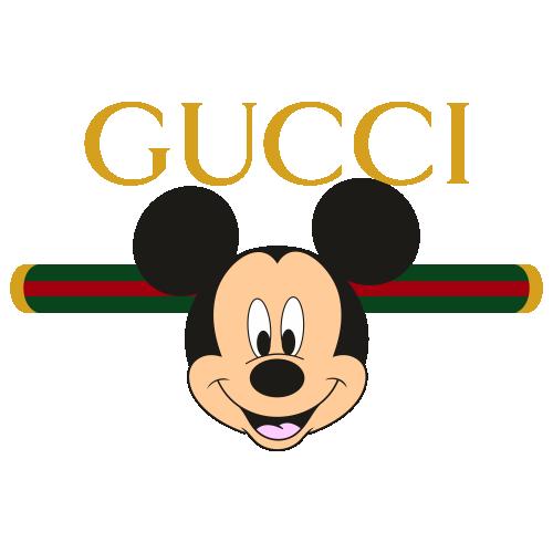 Gucci Mickey Mouse Head Svg