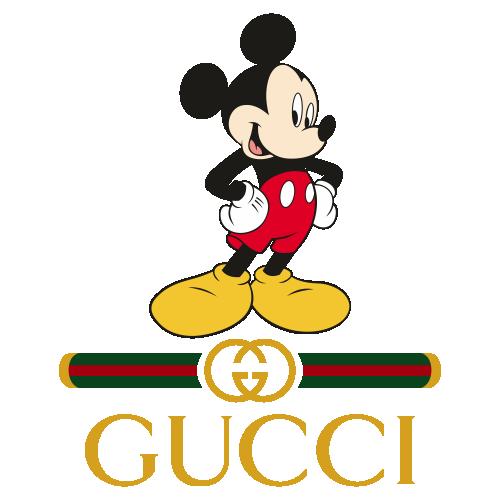 Mickey Gucci Style Logo Svg