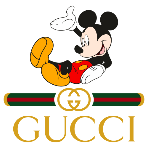 Mickey Gucci Svg