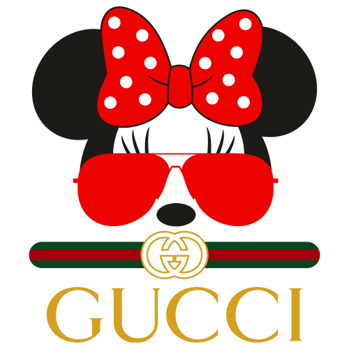 Gucci Minnie Mouse Head Svg